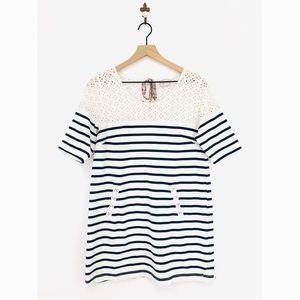 Anthropologie Postmark Striped Jola Tunic Top M